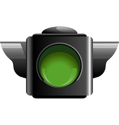 Green traffic light vector
