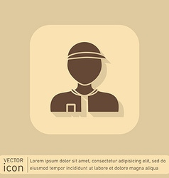 A male avatar picture a man round icon image man vector