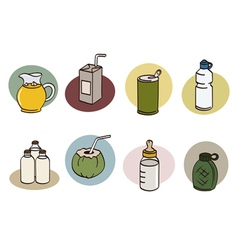 Drink set vector
