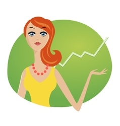 Successful business woman investments market stock vector