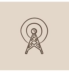 Antenna sketch icon vector