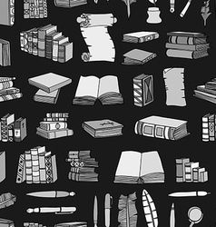 Hand drawn of books vector