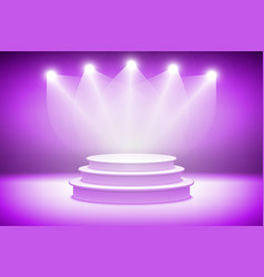 3d pink stage light background theatrical vector