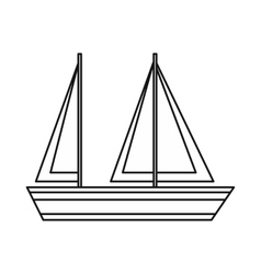 Sailing boat icon outline style vector
