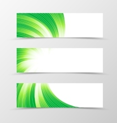 Set of banner swirl design vector