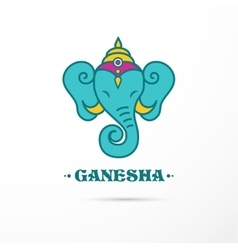 India - Ganesha Indian icon vector image