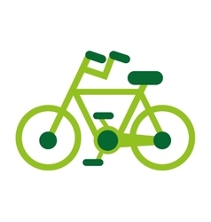 Eco bicycle bike green icon vector