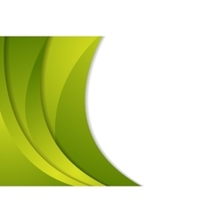 Abstract green waves corporate background vector