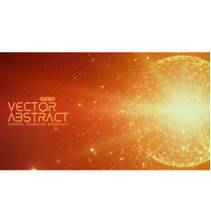 Abstract space orange background vector