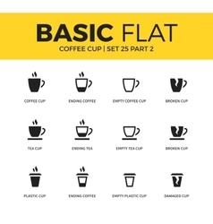 Basic set of coffee icons vector