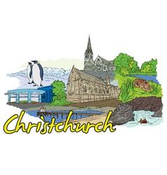 Christchurch doodles vector