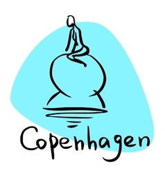 Copenhagen the capital of denmark vector
