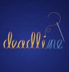 deadline vector image vector image