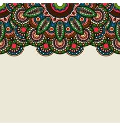 Doodle boho floral border vector image vector image