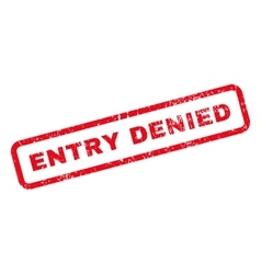 Entry denied text rubber stamp vector