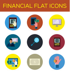 financial flat icon vector image vector image