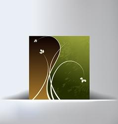 Floral Green Slit Background vector image vector image