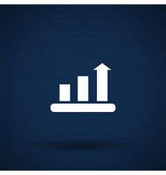 Infographic chart icon graph market business vector