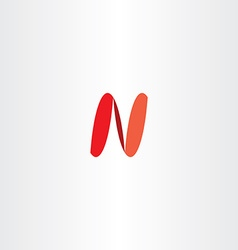 logo letter n icon sign red logotype vector image