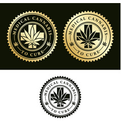 medical cannabis-to cure vector image vector image