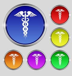 medicine icon sign Round symbol on bright vector image
