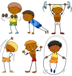Men doing different kinds of sports vector