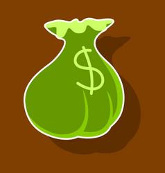 paper sticker on theme arabic business money bag vector image