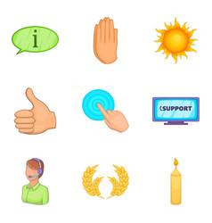 philanthrope icons set cartoon style vector image vector image
