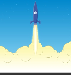 Rocket clouds copy vector image