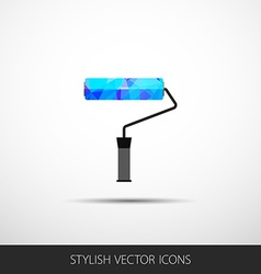 Roller in a flat style with shadow vector