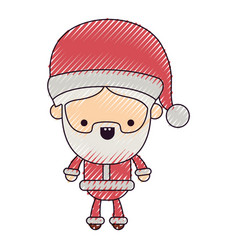 Santa claus cartoon full body tranquility vector