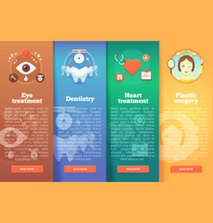 set of medical science flat banners vector image vector image