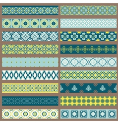 Set of Ribbons and Borders vector image