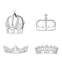 set of royal crowns vector image
