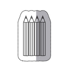 Silhouette pencils color icon vector