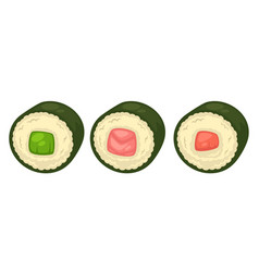 Sushi with different stuffing vector