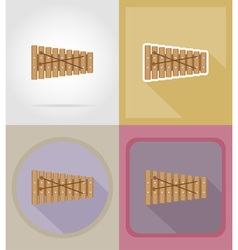 music items and equipment flat icons 15 vector image