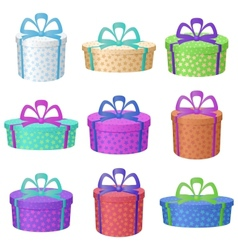 Gift holiday boxes vector