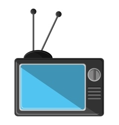Isolated tv device design vector