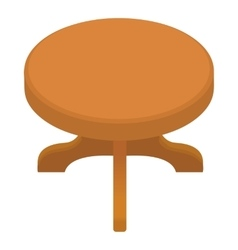 Round table icon cartoon style vector