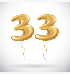 33 anniversary celebration with brilliant gold vector