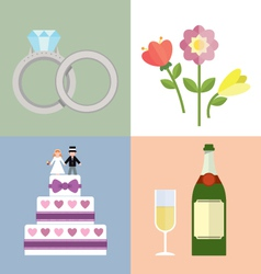 Wedding accessories Set I vector image