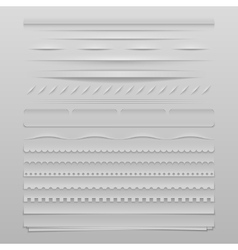 Web dividers vector image