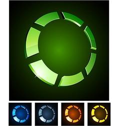 3d round emblems vector image