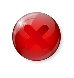 Red check mark icon button vector