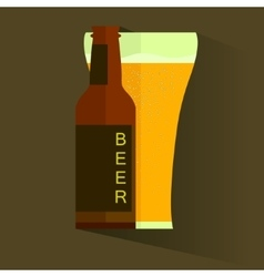 Retro beer poster label or banner vector