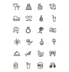 Party and celebration icons 3 vector