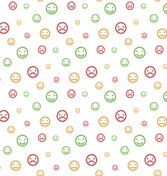 Color smiley faces seamless pattern background vector