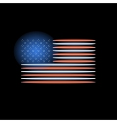 American flag neon light vector