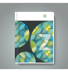 Magazine cover with pattern of geometric shapes vector